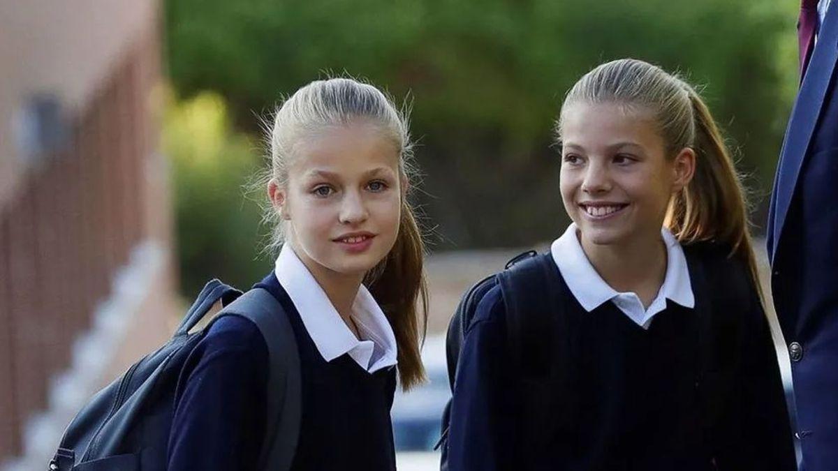 """""""Con normalidad, al cole el lunes"""", la decisión de los Reyes tras confirmase un caso de coronavirus en el colegio de sus hijas"""