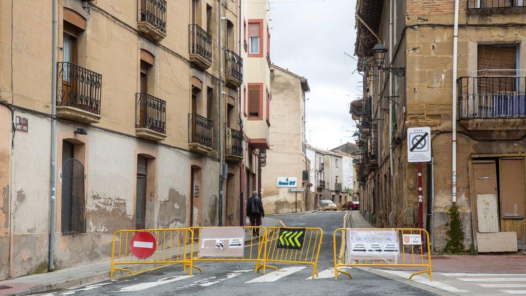 Calle cortada en Haro