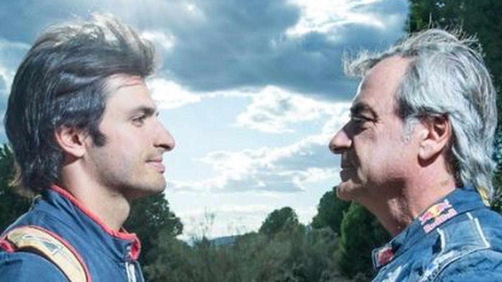 Las risas de Carlos Sainz en una conversación en la que no se creen que su hijo y Vettel cambien sus asientos en 2021