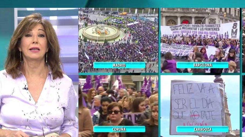 """El alegato feminista de Ana Rosa Quintana:  """"Las mujeres queremos básicamente una cosa, ser libres e iguales"""""""