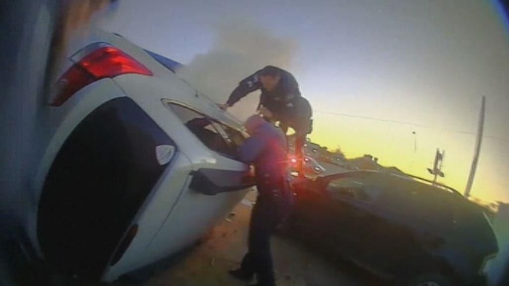 La persecución policial que acaba con el rescate de las víctimas