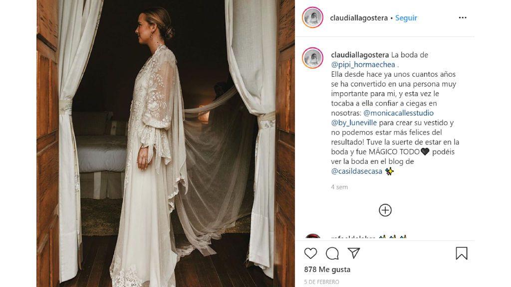 El vestido de Claudia Llagostera.