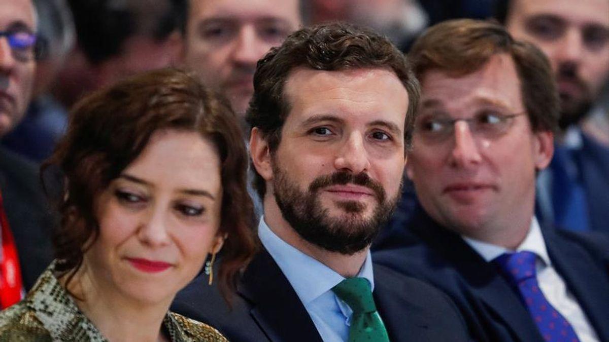 Pablo Casado en un acto con Díaz Ayuso y Martínez Almeida