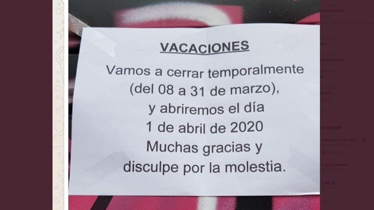 Los locales chinos echan el 'cierre por vacaciones' en Madrid ante la epidemia del coronavirus