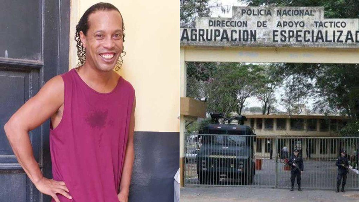 Alcohol, mujeres, móvil y fiestas nocturnas: la vida en la cárcel de Ronaldinho junto a narcos y políticos corruptos