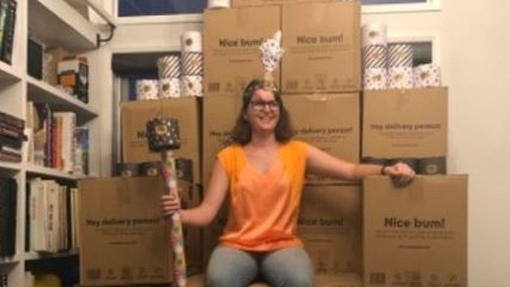 La locura del coronavirus: una familia compra más de 2.000 rollos de papel higiénico