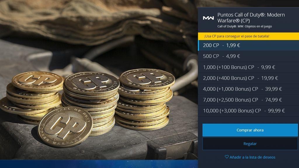 Precios CP para Battle Pass Warzone