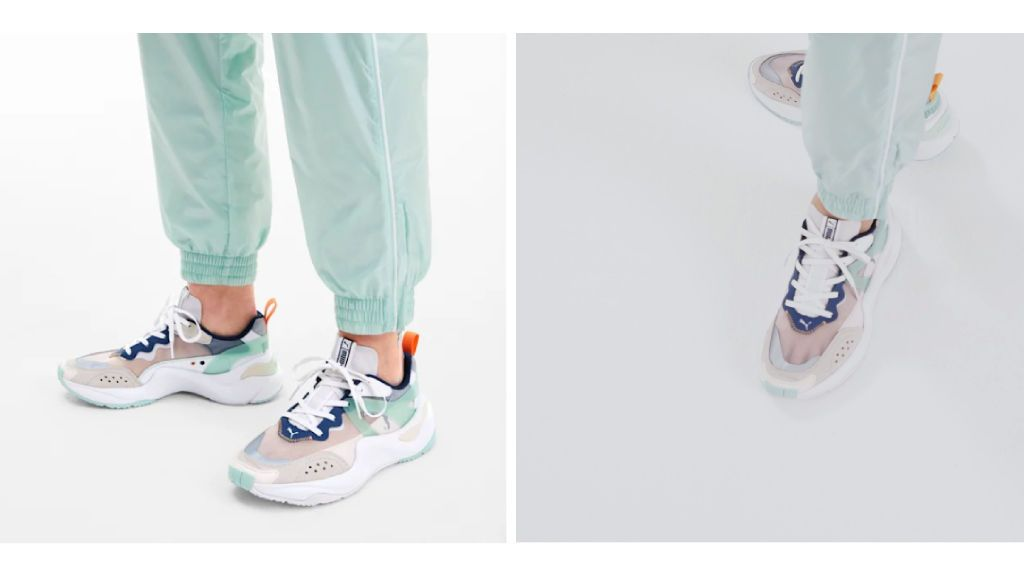 Las zapatillas de Puma.