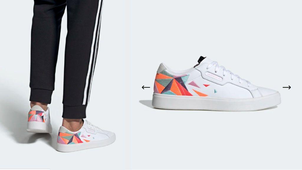 Las zapatillas de Adidas.