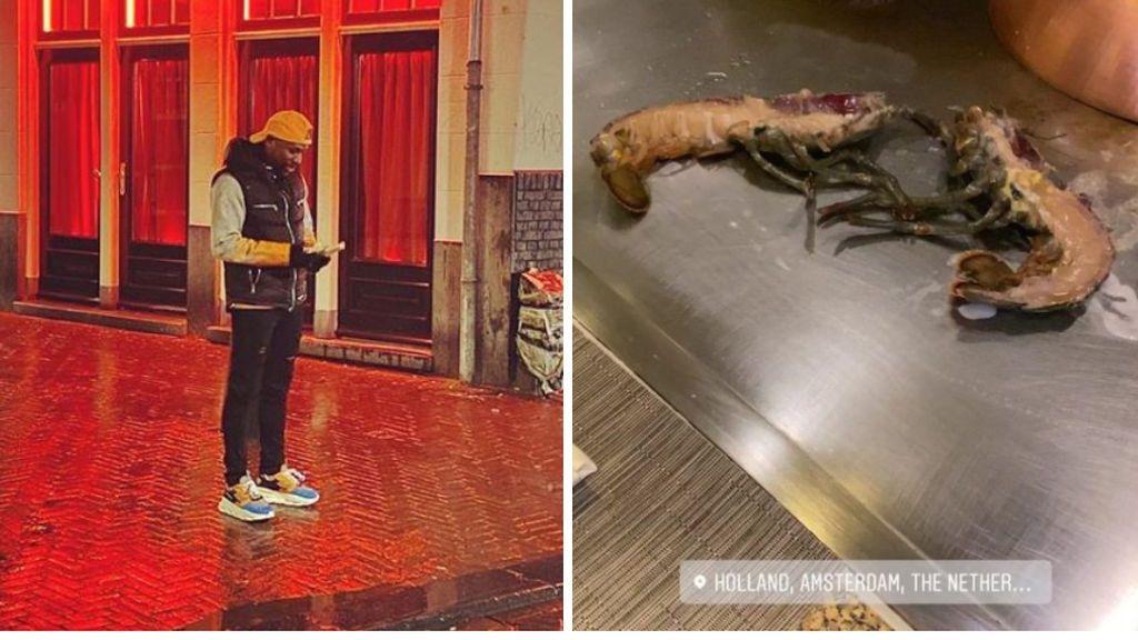 Floyd Mayweather se va de fiesta al 'Barrio rojo' de Amsterdam y prueba la 'langosta zombie'