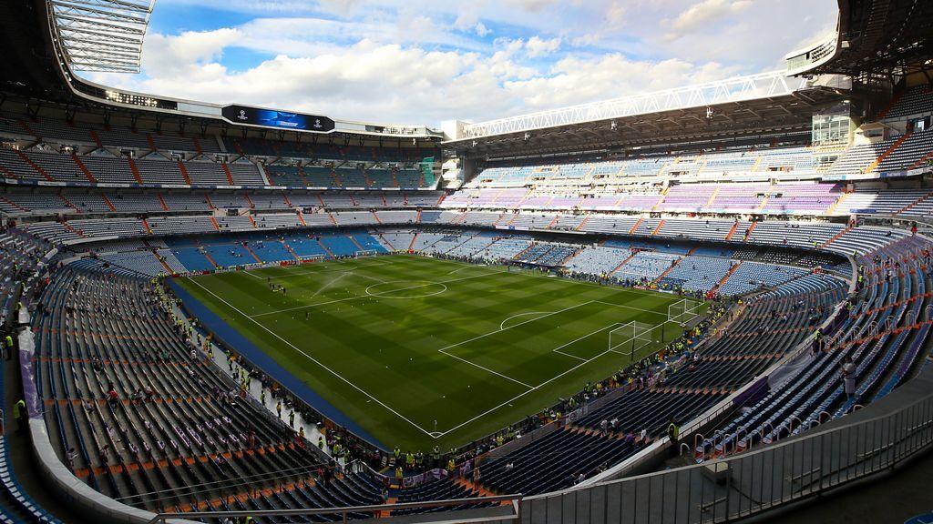 El Santiago Bernabéu, sin público.