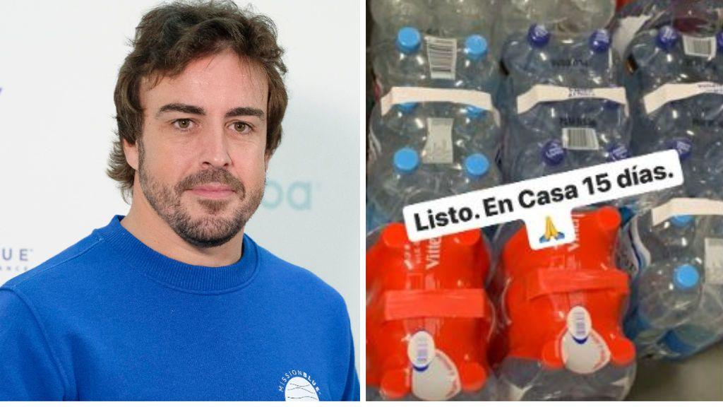 """Fernando Alonso predica con el ejemplo y compra previsiones para no salir de casa: """"Esto es un trabajo de equipo"""""""