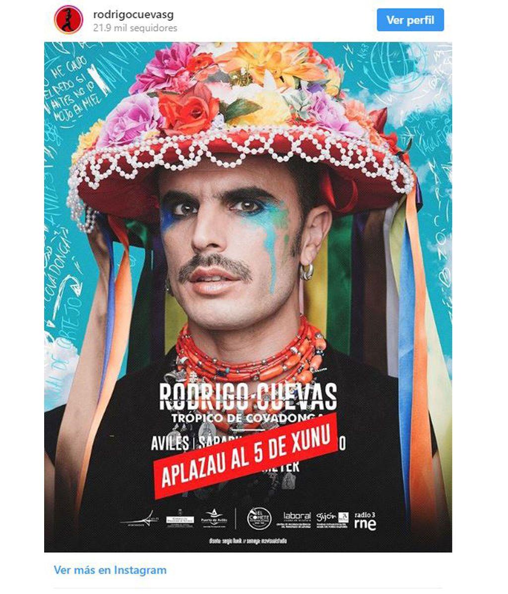 Cartel nuevo concierto de Rodrigo Cuevas