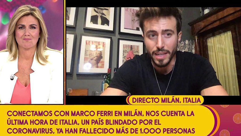 """Marco Ferri, aislado en Milán: """"Las medidas son quedarse en casa y no subestimar el problema"""""""