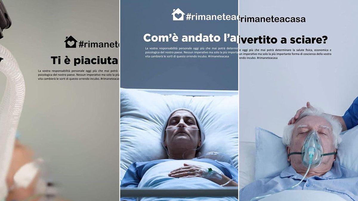 """La durísima campaña italiana para concienciar sobre el coronavirus: """"¿Qué tal las cañas?"""""""