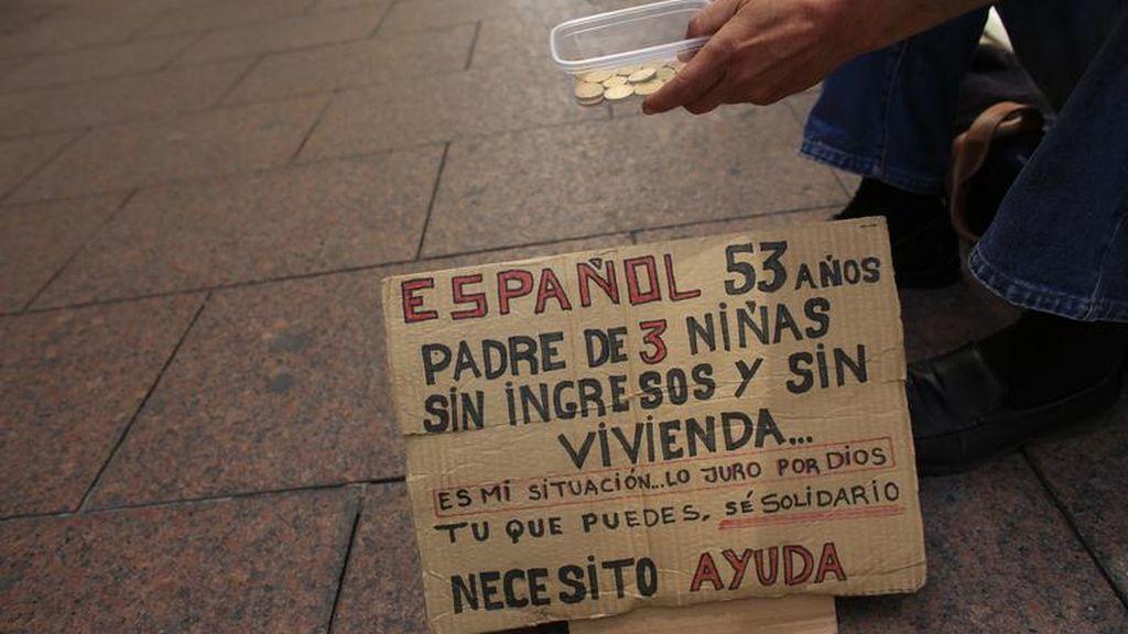 Una persona sin hogar en las calles españolas