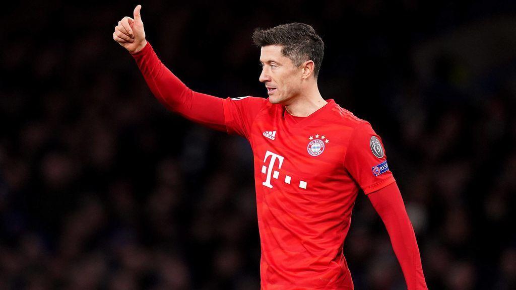 Lewandowski, en un partido con el Bayern