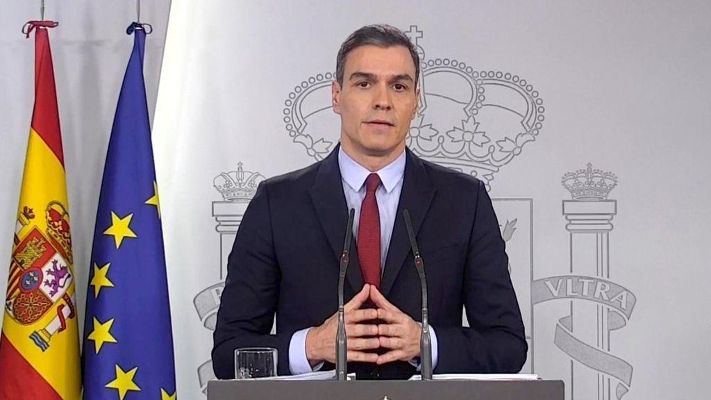 Pedro Sánchez confirma que el Gobierno toma el control del territorio durante el estado de alarma