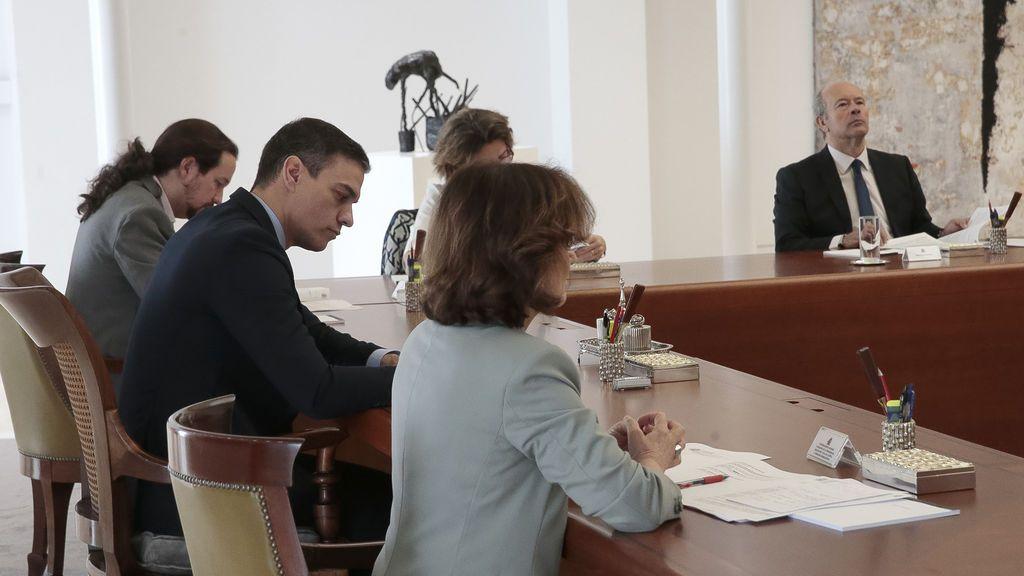 Imagen del Consejo de Ministros en el que se ha decretado estado de alarma