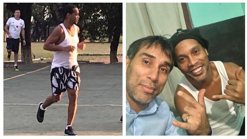 Ronaldinho gana el torneo de fútbol sala en la cárcel y reparte taconazos y magia entre los presos