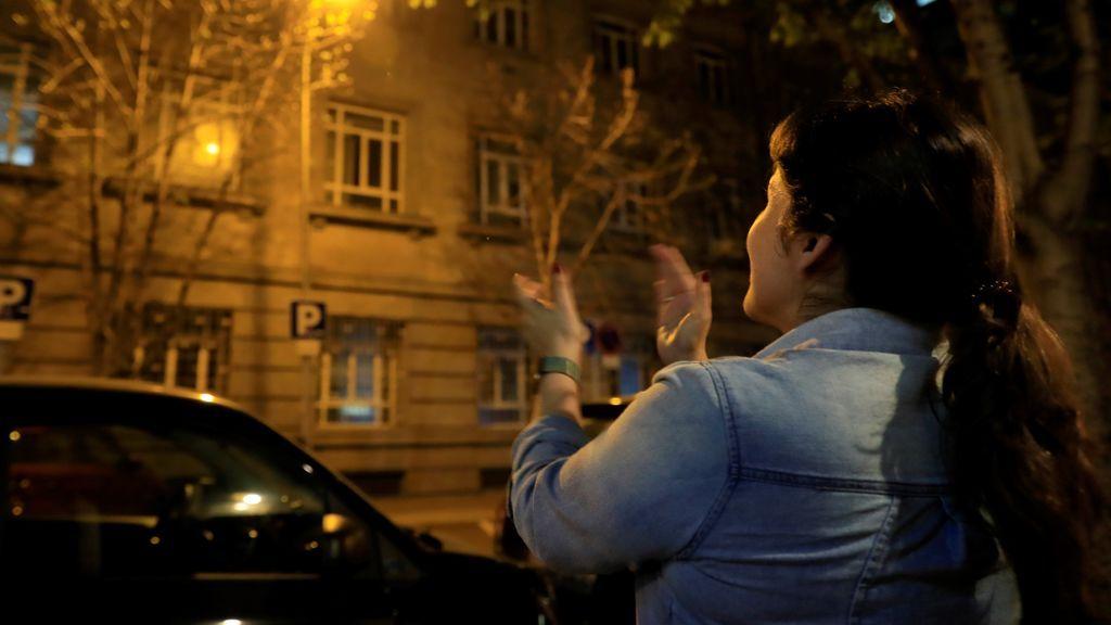 Aplauso a los sanitarios en Madrid