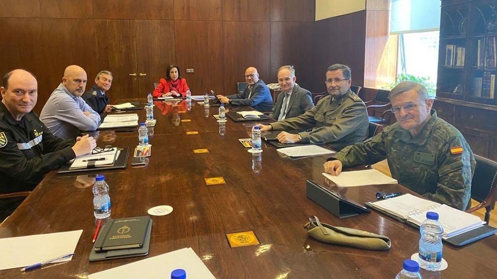 Reunión de coordinación del estado de alarma en el Ministerio de Defensa