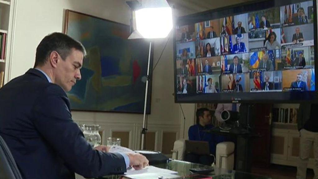 Sánchez se reúne por videoconferencia con los presidentes autonómicos para tratar la crisis del coronavirus