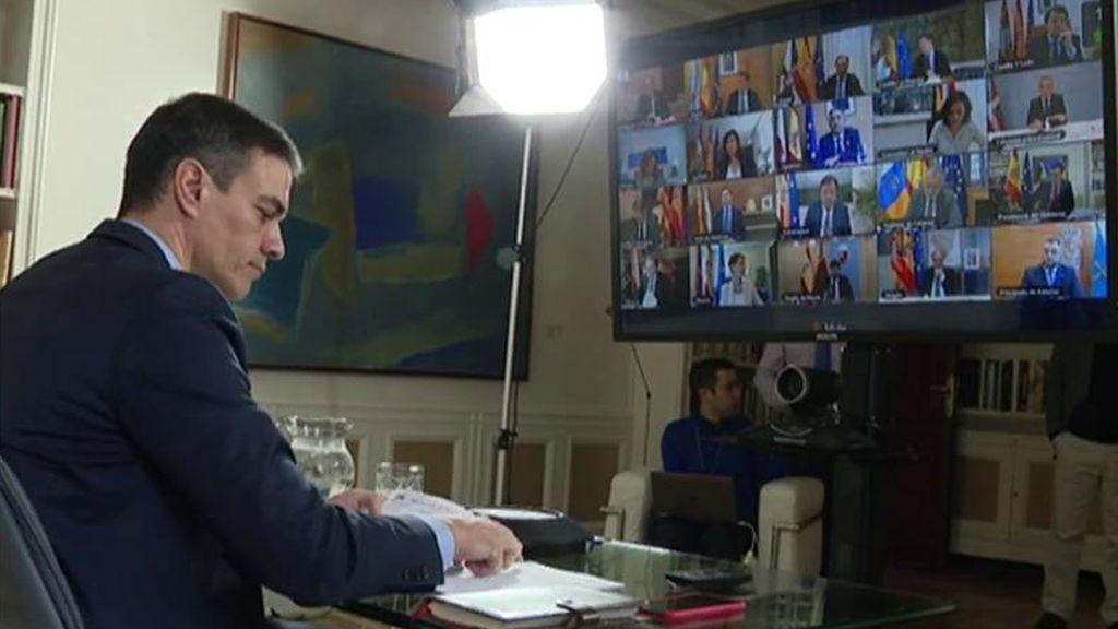 Sánchez se reúne por videoconferencia con los presidentes autonómicos para abordar la crisis del coronavirus