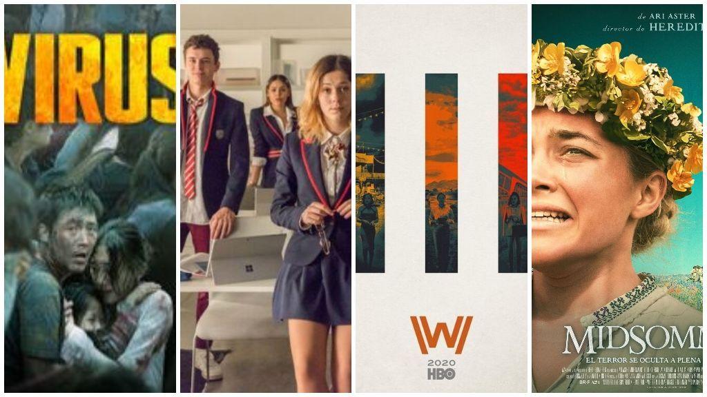 Virus, Élite, Westworld y Midsommar, los últimos estrenos de Netflix, HBO y Amazon Prime.