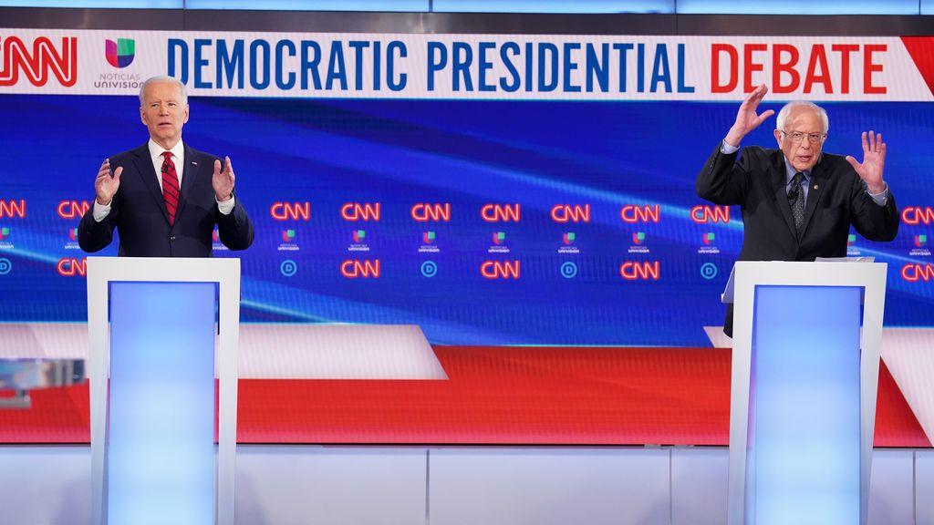 Tenso debate entre Biden y Sanders por el coronavirus