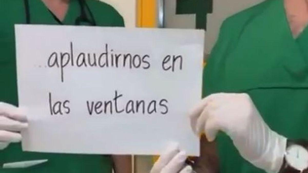 """Los sanitarios agradecen los aplausos y mandan un mensaje claro: """"Quédate en casa"""""""