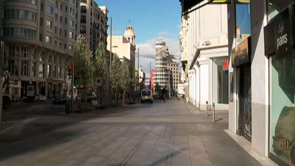 Imágenes de Madrid vacío