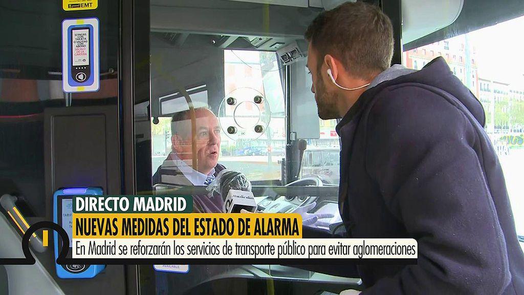 Madrid reforzará el transporte público para evitar las aglomeraciones producidas en hora punta por la mañana
