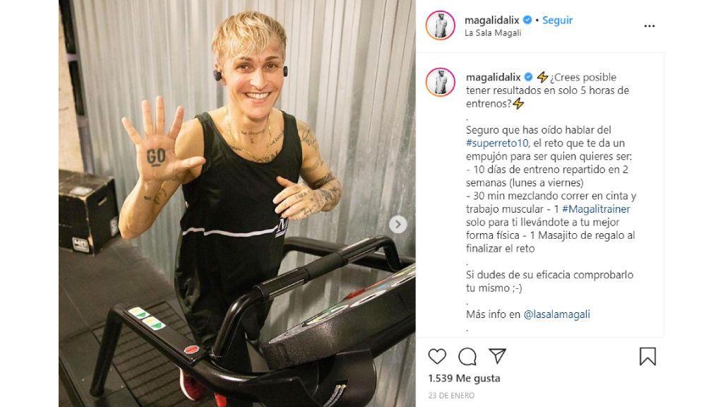 Los ejercicios de Magalí Dalix.