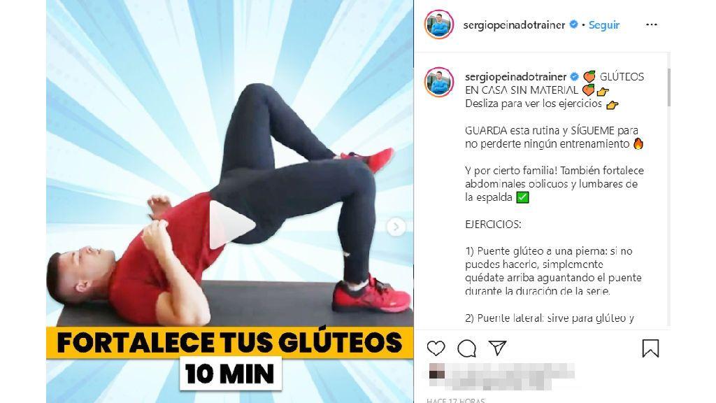 Los ejercicios de Sergio Peinado.