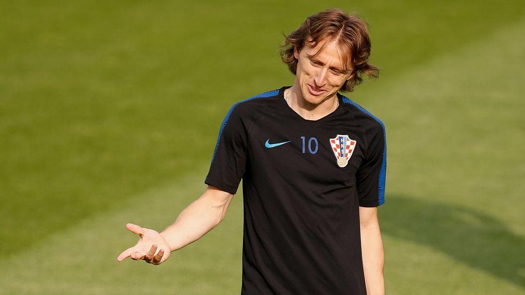 Luka Modric, en un entrenamiento con Croacia
