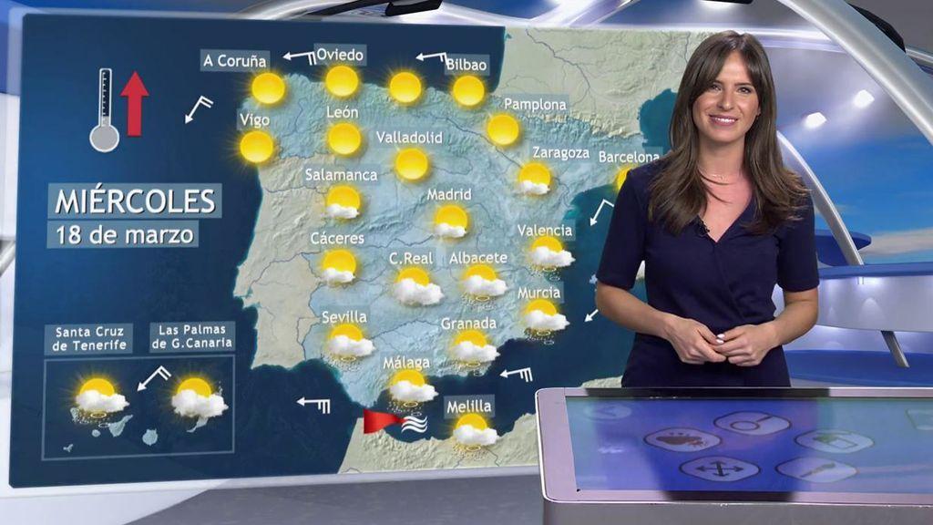 Día de transición: los cielos se irán despejando en toda España tras el paso de la Dana