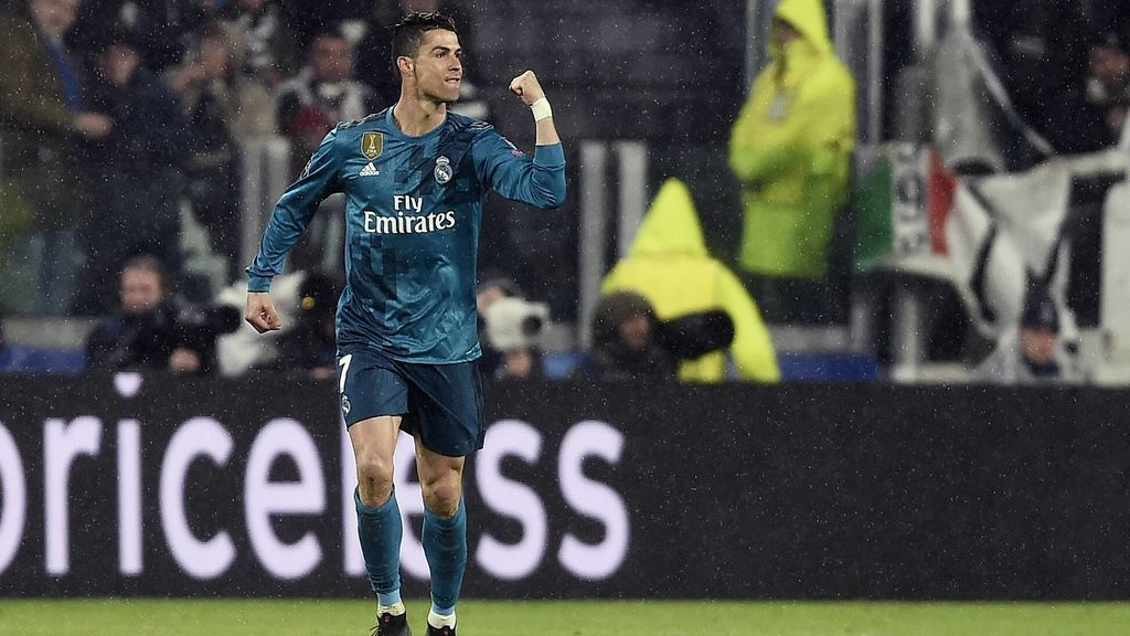 Cristina Ronaldo celebrando un gol con el Real Madrid