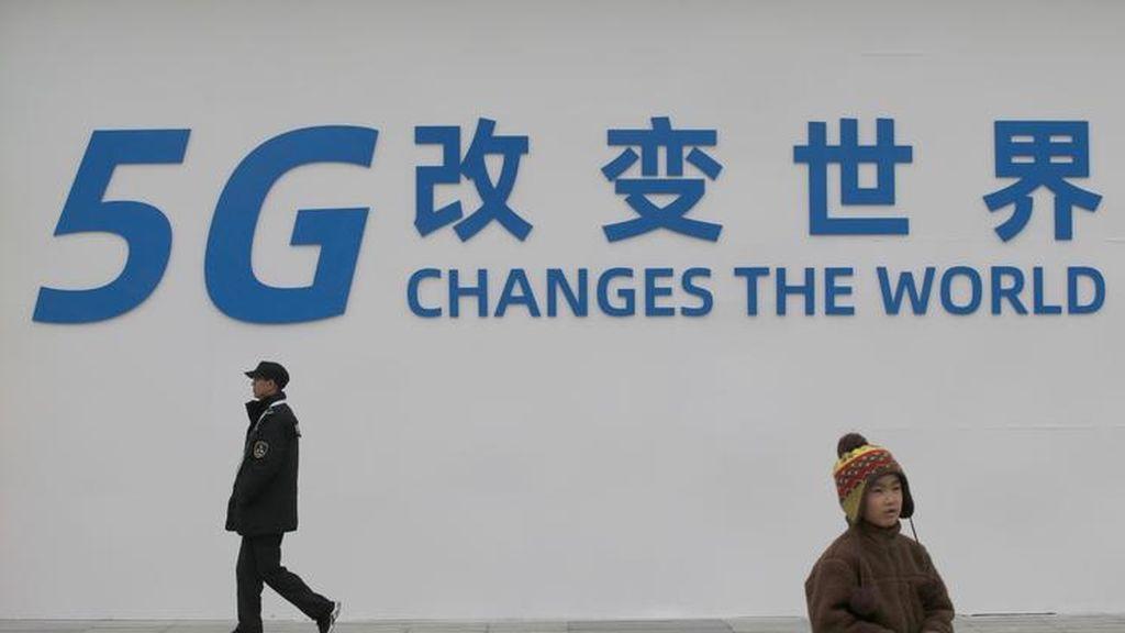 Cartel publicitario de la tecnología 5G