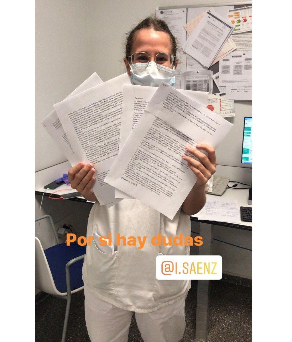 Las primeras cartas solidarias que están llegando a los hospitales