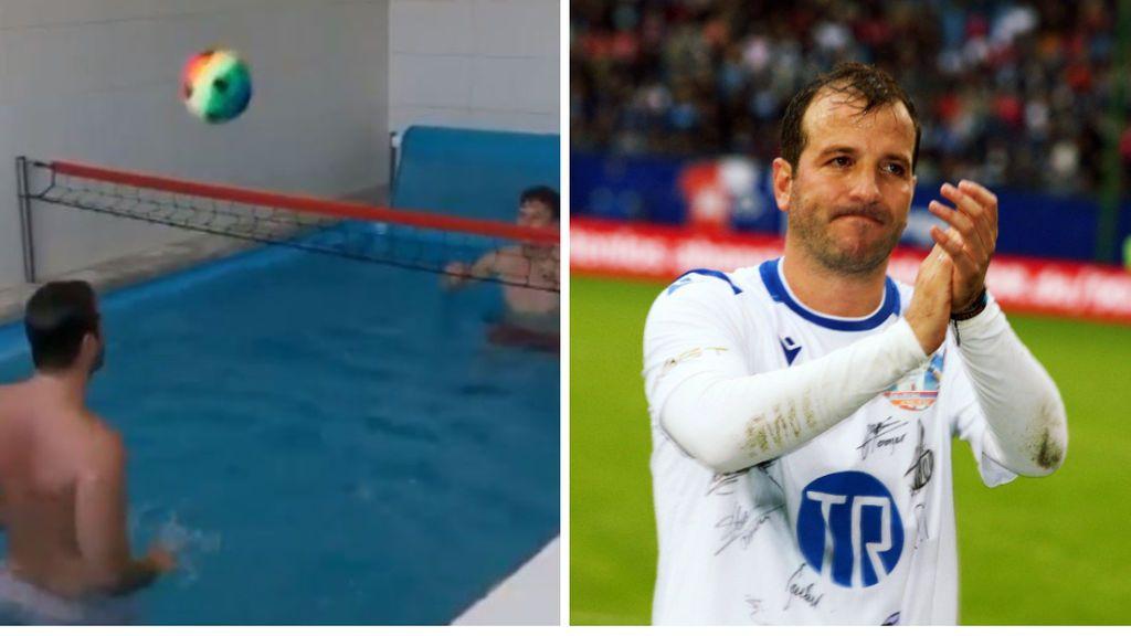 """Van der Vaart invita a sus seguidores a quedarse en casa y la gente explota: """"Sí, ahora lo hago en mi bañera"""""""