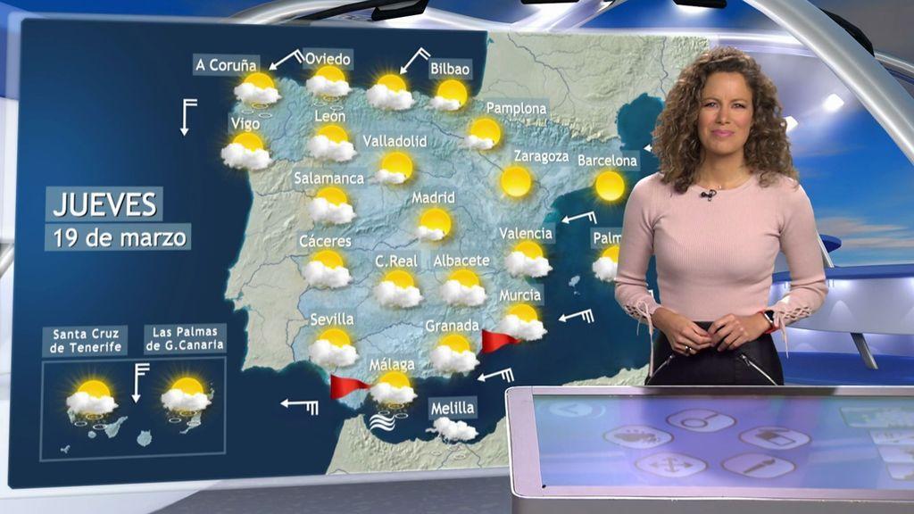 Tregua entre Danas: el jueves hará más de 20ºC en buena parte de España