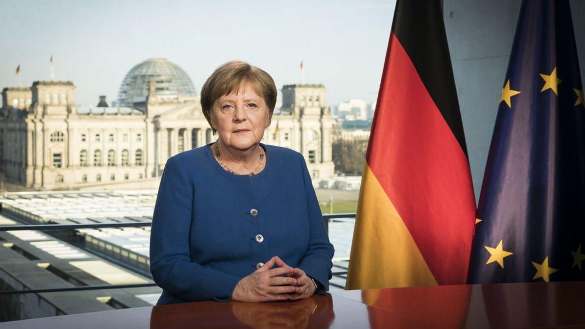 Merkel dice a los alemanes que ganar al coronavirus es un desafío histórico