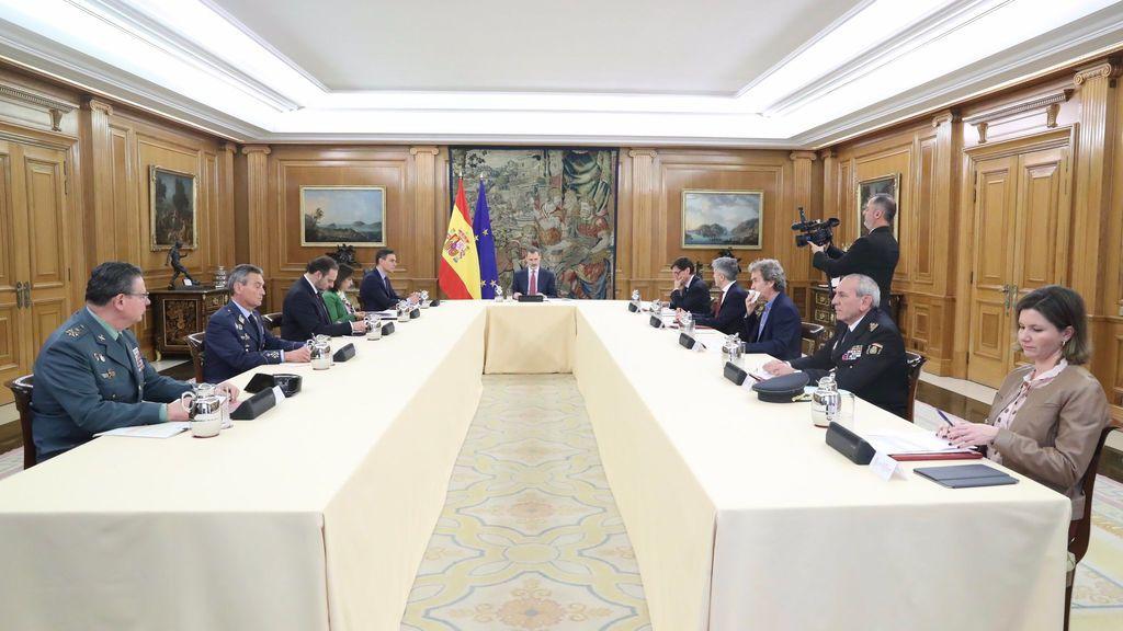 Reunión en Zarzuela del comité de gestión de la crisis del Covid-19