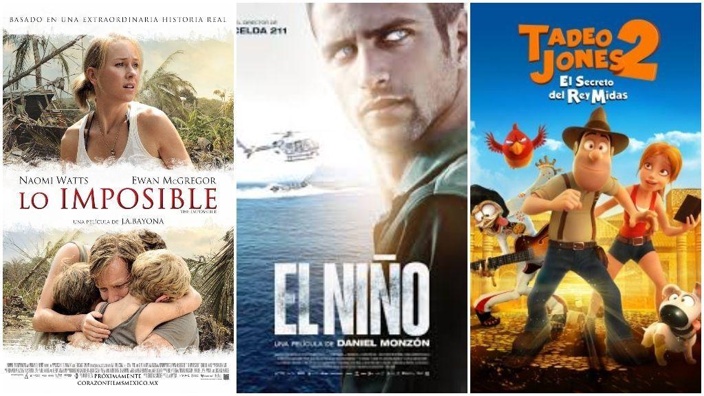 'Lo imposible', 'El Niño' y 'Tadeo Jones'.