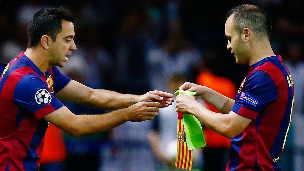 Xavi e Iniesta, dos canteranos del Barça
