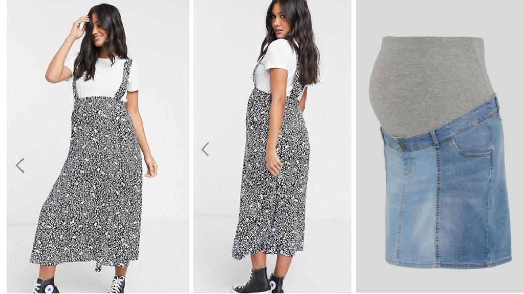 La falda de Asos y de C&A.
