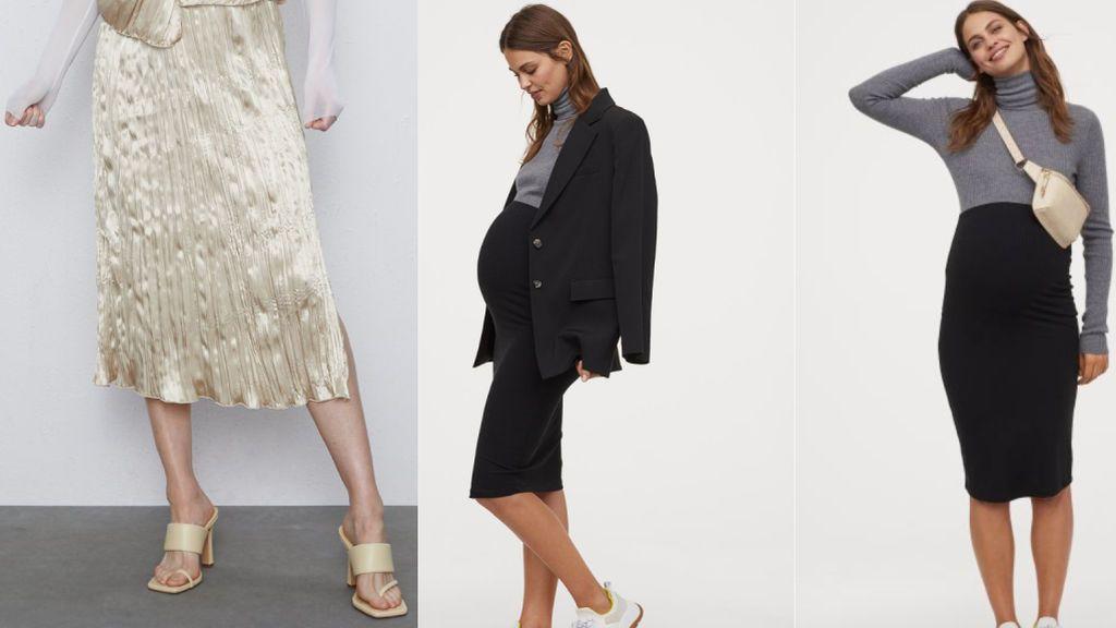 La falda de Zara y la de H&M.