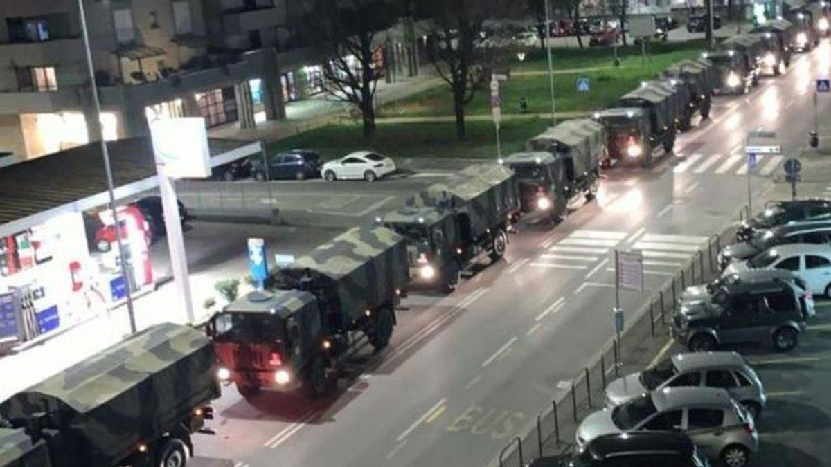 El ejército italiano saca los féretros de Bérgamo, la ciudad más golpeada por el coronavirus