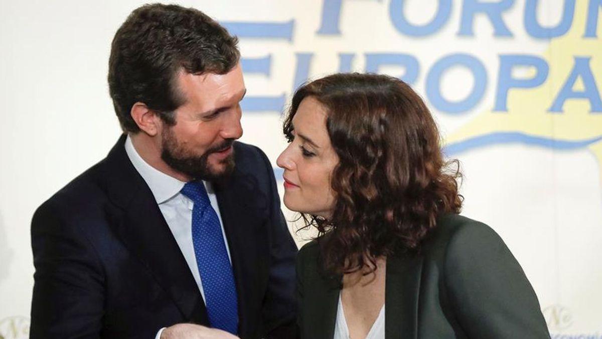 Isabel Díaz Ayuso junto al líder del PP Pablo Casado